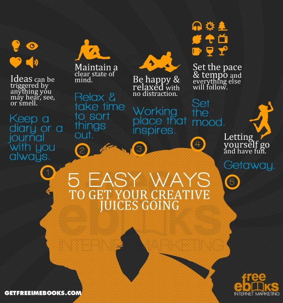 5 Easy Ways To Get Your Creative Juices Going Infographics