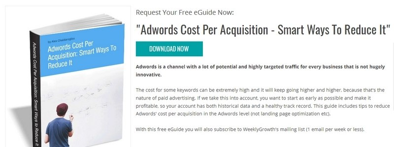 Adwords Cost Per Acquisition - Smart Ways To Reduce It by Weekly Growth