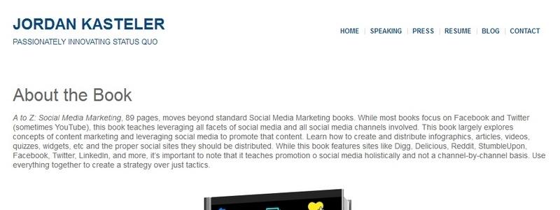 A to Z: Social Media Marketing by Jordan Kasteler