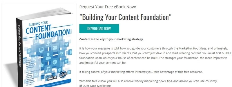 Building Your Content Foundation by Duct Tape Marketing