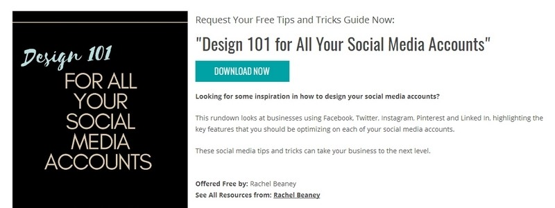 Design 101 for All Your Social Media Accounts by Rachel Beaney