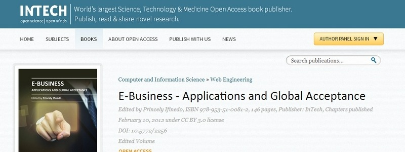 E-Business: Applications and Global Acceptance by Princely Ifinedo