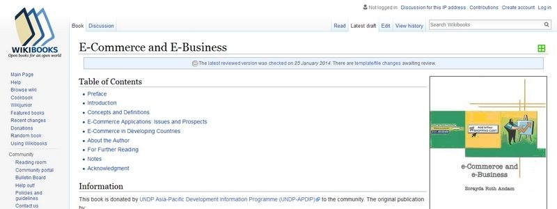 E-Commerce and E-Business by Wikibooks.org