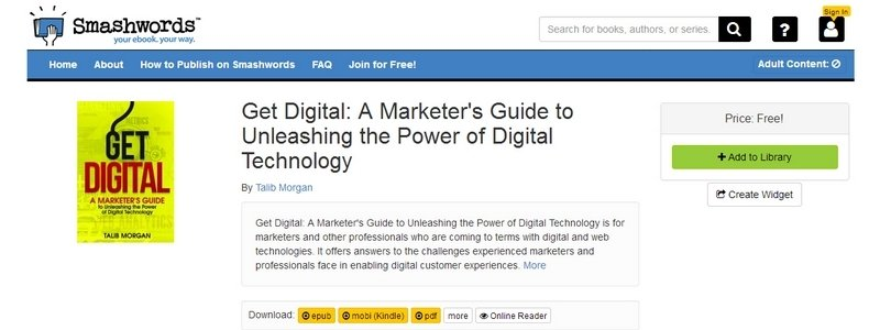 Get Digital: A Marketer's Guide to Unleashing the Power of Digital Technology by Talib Morgan