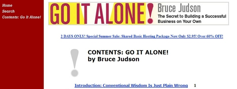 Go It Alone! The Secret to Building a Successful Business on Your Own by Bruce Judson