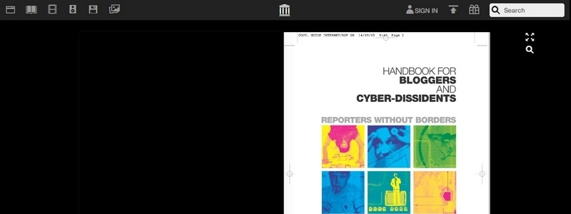 Handbook for Bloggers and Cyber-Dissidents by Sylvie Devilette