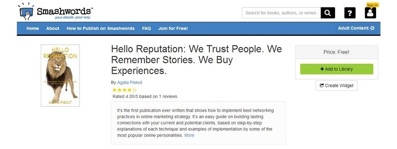 Hello Reputation: We Trust People. We Remember Stories. We Buy Experiences by Agata Piekut