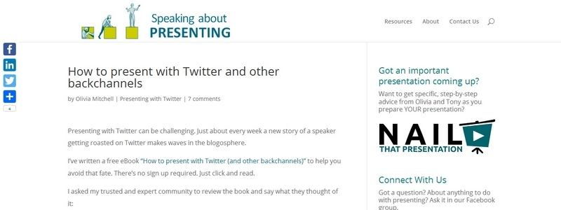 How to Present with Twitter and Other Backchannels by Olivia Mitchell