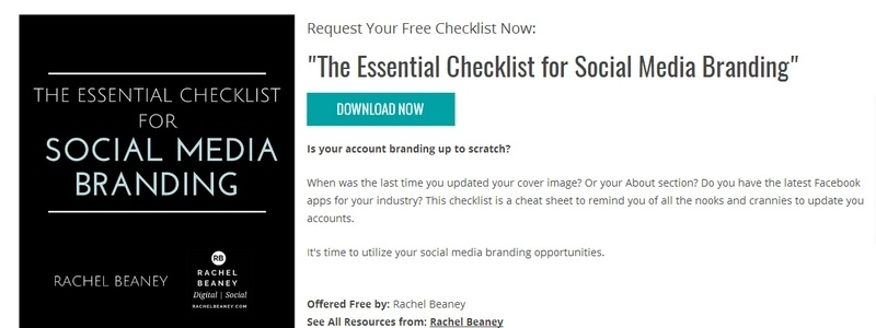 The Essential Checklist for Social Media Branding by Rachel Beaney