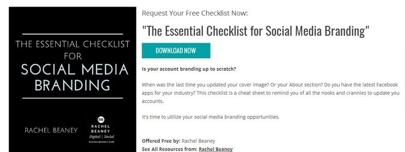 The Essential Checklist for Social Media Branding by Rachel Beaney