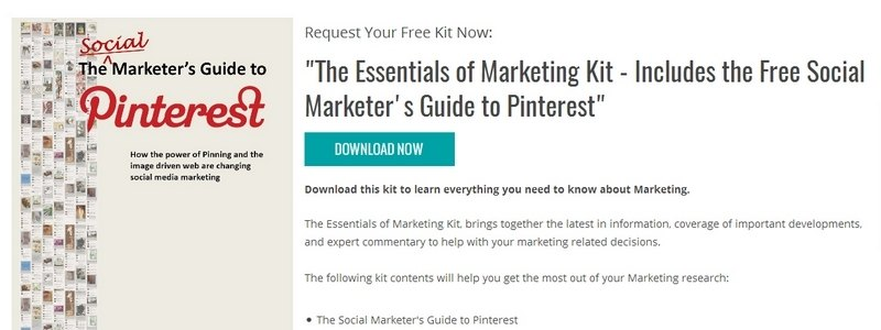 The Essentials of Marketing Kit - Includes the Free Social Marketer's Guide to Pinterest by TradePub