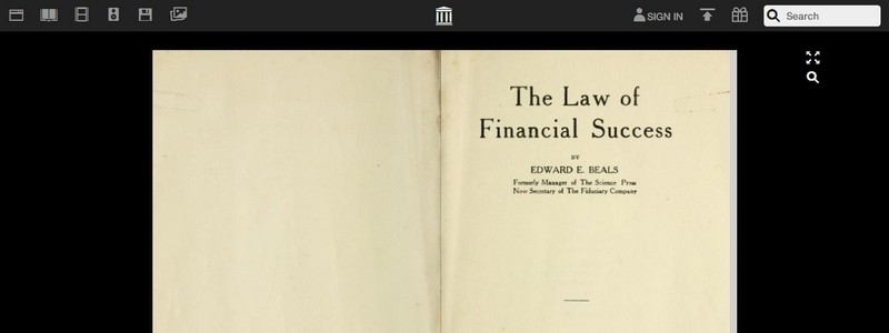 The Law of Financial Success by Edward E Beals