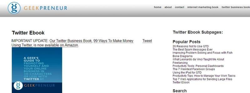 Twitter Ebook by Geekpreneur