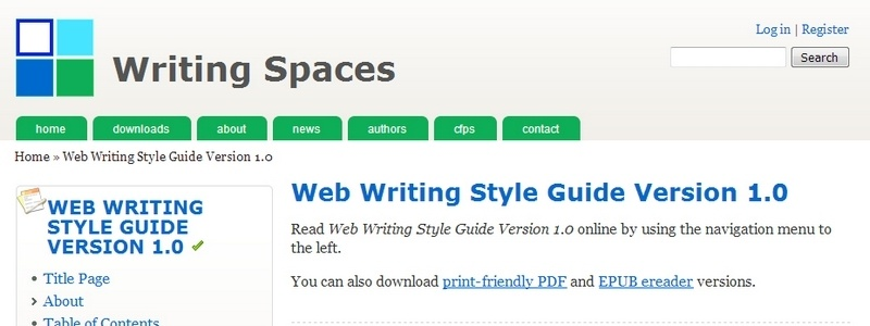 Web Writing Style Guide by Matt Barton, James Kalmbach, Charles Lowe