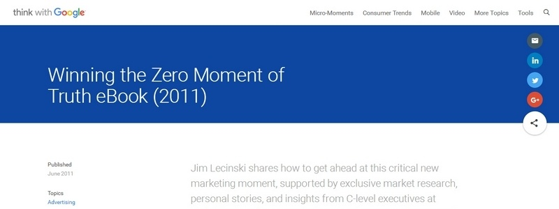 Winning the Zero Moment of Truth by Jim Lecinski