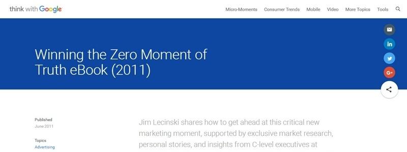 Winning the Zero Moment of Truth by Jim Lecinski