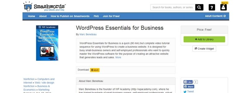 WordPress Essentials for Business by Marc Beneteau