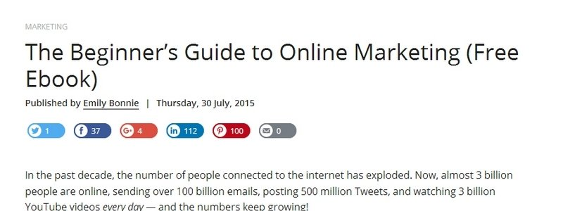 The Beginner's Guide to Online Marketing by Wrike