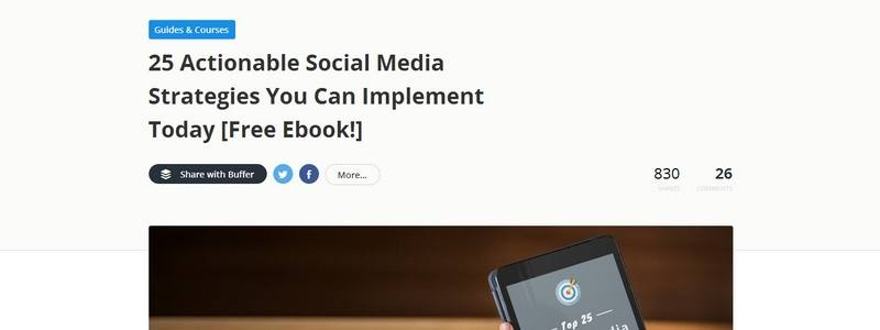 25 Actionable Social Media Strategies You Can Implement Today by Buffer