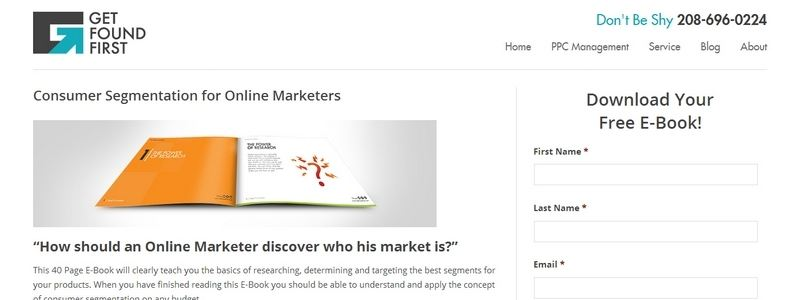 Consumer Segmentation for Online Marketers by Get Found First