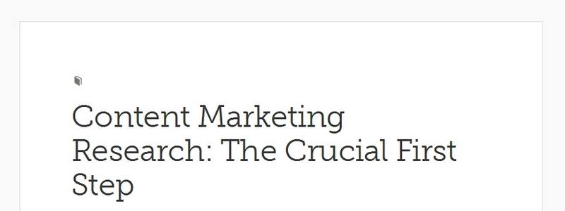 Content Marketing Research: The Crucial First Step by Copyblogger