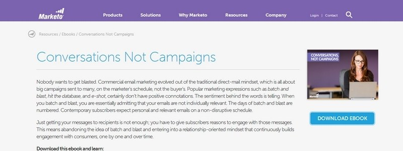 Conversations, Not Campaigns by Marketo