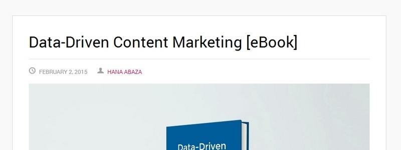 Data-Driven Content Marketing by Hana Abaza
