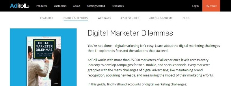 Digital Marketer Dilemmas by Adroll