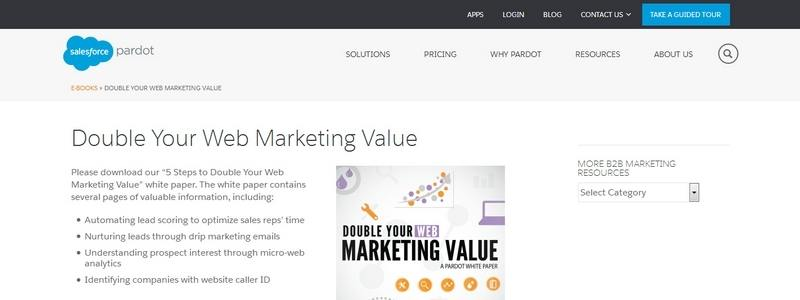 Double Your Web Marketing Value in 5 Easy Steps by Pardot