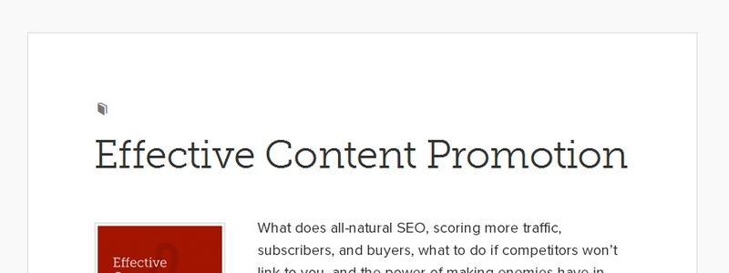 Effective Content Promotion by Copyblogger