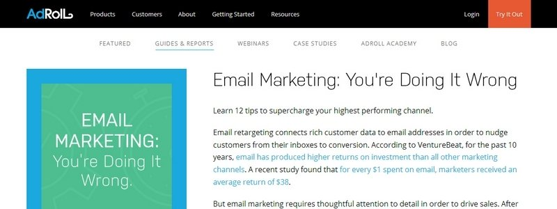 Email Marketing: You're Doing It Wrong by Adroll