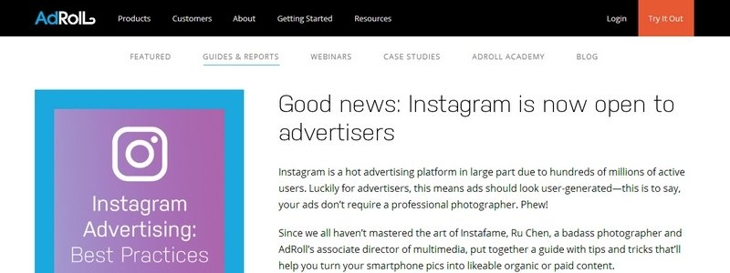 Instagram Advertising: Best Practices by Adroll