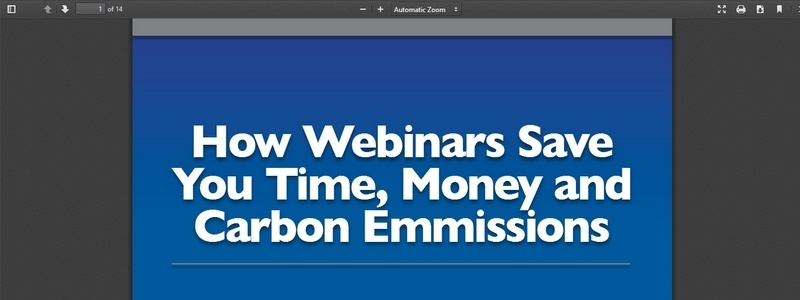 How Webinars Save You Time, Money and Carbon Emmissions by GoToWebinar