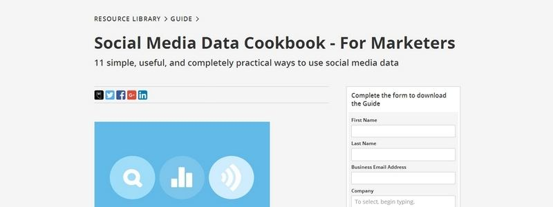 Social Media Data Cookbook - For Marketers by Hootsuite