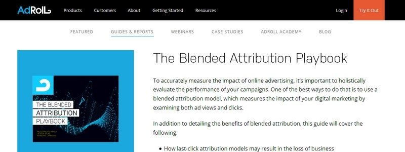 The Blended Attribution Playbook by Adroll