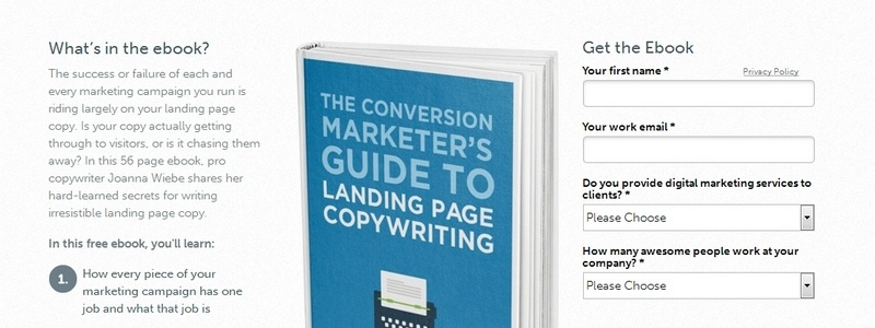 The Conversion Marketer's Guide to Landing Page Copywriting by Unbounce