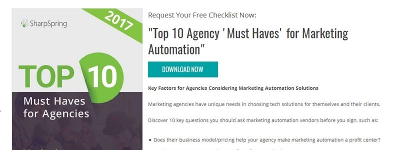 Top 10 Agency 'Must Haves' for Marketing Automation by SharpSpring