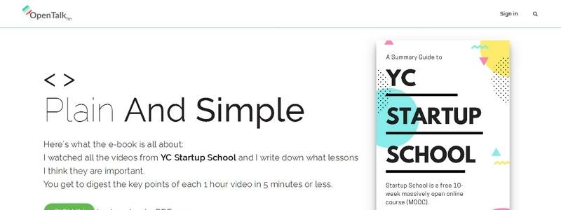 A Summary Guide to YC Startup School by Opentalk.fm