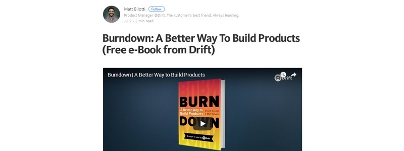 Burndown: A Better Way To Build Products by Matt Bilotti