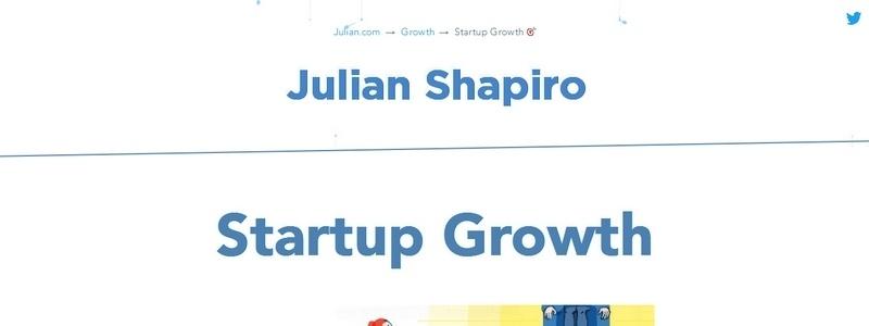 Startup Growth by Julian Shapiro