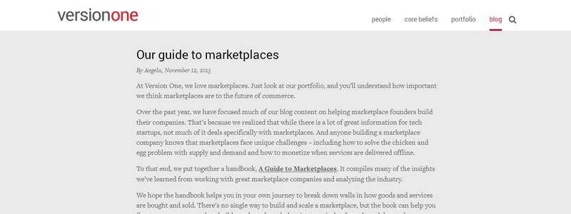 A Guide to Marketplaces by Boris Wertz and Angela Tran Kingyens