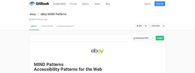 MIND Patterns: Accessibility Patterns for the Web by The Ebay Team